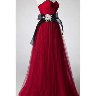 Gorgeous Red Wedding Gown
