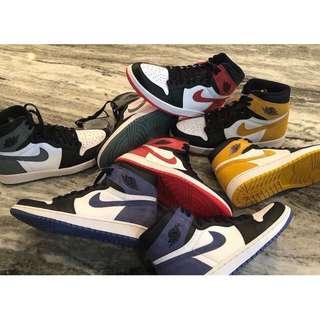 Authentic Nike Air Jordan 1 High OG 6 Rings (4 Colorways)