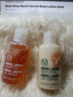 Body Shop Neroli Jasmin Body Lotion & Shower Gel