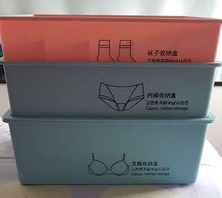 (NOW @$15) Selling plastic underwear storeage box