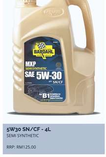 Engine Oil Bardahl Semi-Synthetic 5W-30