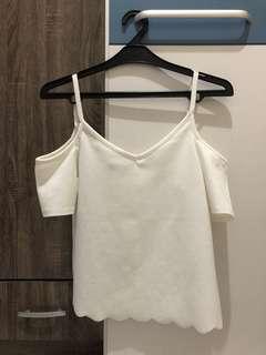 New Look White Sabrina Shirt Top