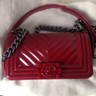 Chanel inspired jelly slingbag