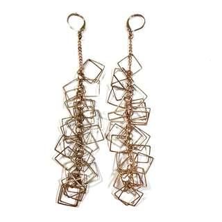 🚚 復古懷舊風 長串耳環