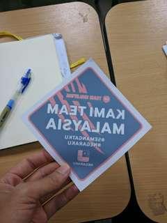 Team Malaysia Car Sticker