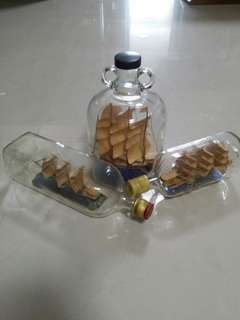 Glass Bottle Ship