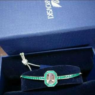 Swarovski emeralds green bracelet