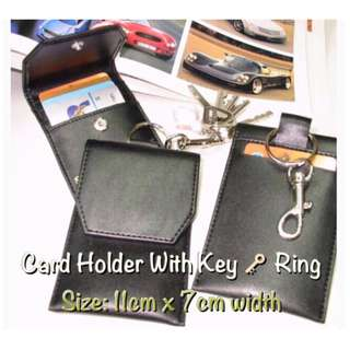 Card holder with Key Ring/@S$3.50/Artificial Leather/Free Local Mail