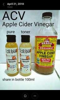 Cuka Apel Bragg share in bottle