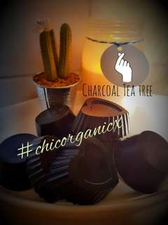 Homemade Organic Activated Charcoal Tea Tree 60grams