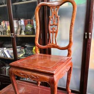 极品黃花梨靠背椅一忄