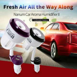 Nanum II Dual USB Port Car Air Humidifier Air Purifier