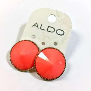 ALDO 螢光橘圓形耳環