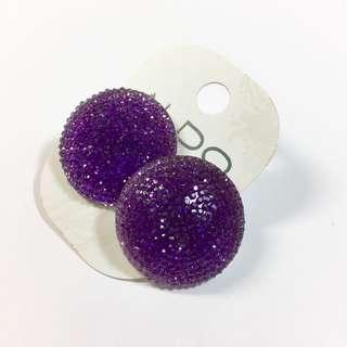🚚 ALDO 紫鑽 圓形耳環