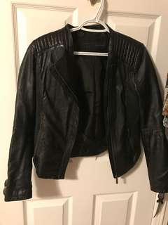 Zara leather jacket medium