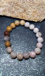 珊瑚玉-10米手串(挑選過顆顆有花)