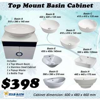 Basin Cabinet (for Top Mount Basin)