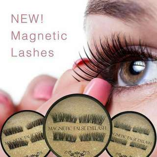 Magnetic false eye lashes