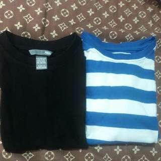 bundle of 2 H&M shirt and Gap sweat shirt 4 to 5 yrs old