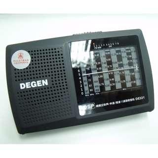 DEGEN DE321 AM/FM/SW收音機 (長者優惠!)