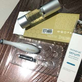 DNA therapy eye device with mineral serum