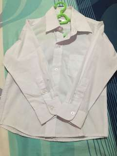 White long sleeve polo. Used once