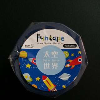 [50% Discounted!!] Outer Space Fun Tape (like Washi Tape) - Back By Popular Demand!!