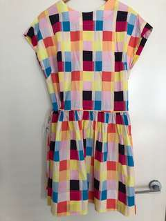Colourful checkered dress