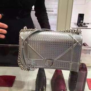 Dior diorama metallic silver