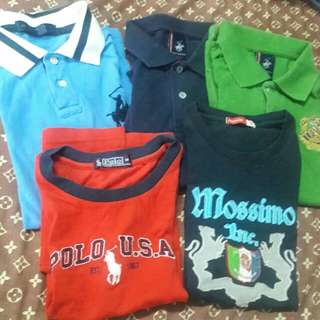 Bundle of 5 Polo shirt & T- shirt beverly hills polo club and mossimo 11 to 12 yrs old