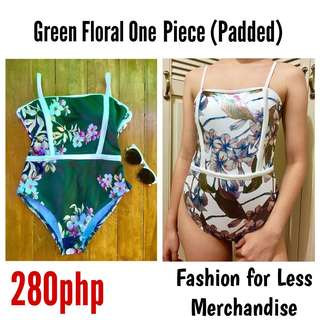 Green Floral One Piece
