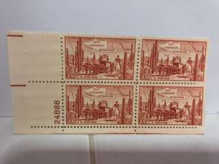 USA STAMP BLOCK mint