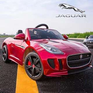 Red Licensed Jaguar Rechargeable Ride On Sports Car