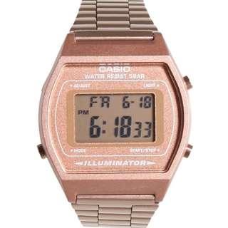 Casio Classic B640WC-5A Rose Gold Retro Digital Bronze Stainless Steel Watch