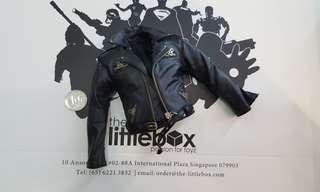 [NOT LIFE SIZE] 1/6 Scale Black Leather Bike Biker Harley Davidson Motor Jacket T800 James Terminator
