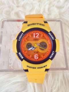 Jam tangan digitec yellow