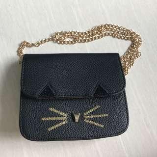 BN Kitty Gold Chain Sling Bag