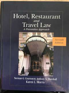 Hotel, Restaurant and Travel Law 7th Edition Textbook