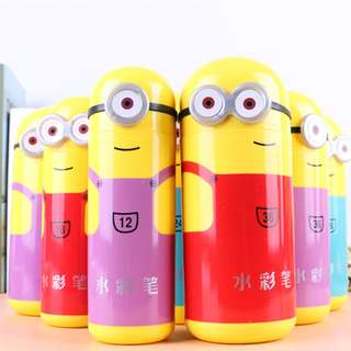Stationery - 12 colour waterpen-Minions