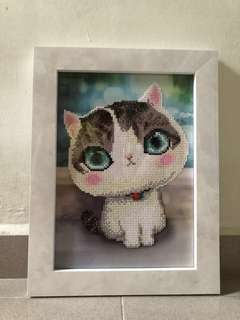 Cats Bead Painting