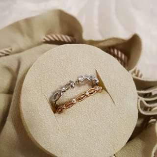 Samantha Tiara 日本鑽石戒指x2 Diamond Rings. Rose/white Gold
