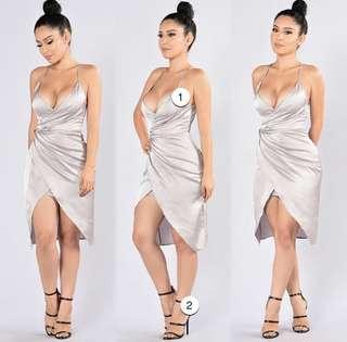 Satin Dress BNWT