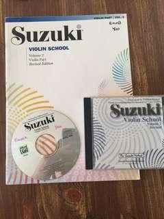 Suzuki violin 2 book and Cd