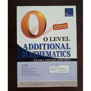 SAP O Level Additional Mathematics
