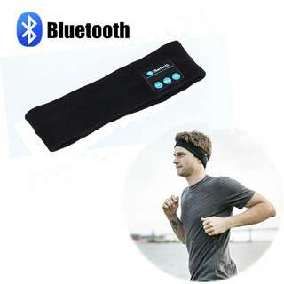 Knitted Music Headband Headset w/ Mic Wireless Bluetooth Earphone Headphone For Running Yoga Gym Sleep Sports Earpiece