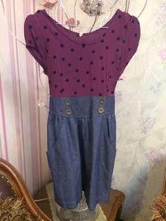 Polkadot Jeans Dress