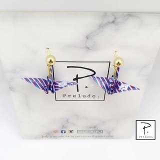 Prelude_hk 手作品牌 屬於香港既紙鶴耳環