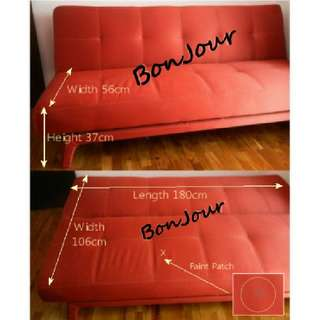 Sofa Bed 3-4 Seater Sellzabo Furniture Red Colour Chair