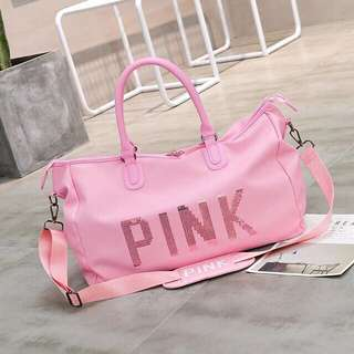 NEW Pink Travel Bag | Gym Fitness | Weekender Tote Bag