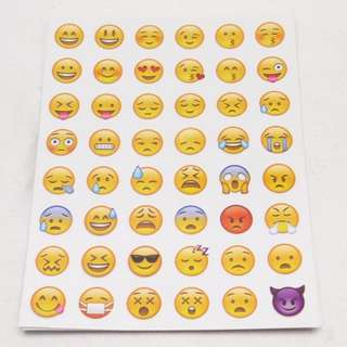 B. Lovely 48 Die Cut Emoji Smile Face Sticker for Phone Laptop (FREE POSTAGE)